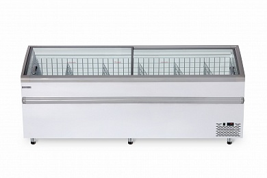 Freezer bonnet with curved glass BFG 2100